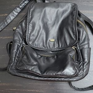 Pleather Backpack Purse